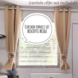 Nicetown window curtain panels w/ grommets